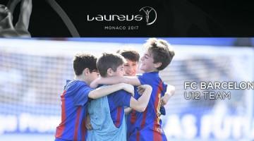 El infantil del FC Barcelona gana el premio Laureus al mejor momento deportivo
