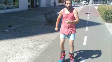 Juan Pablo Melgar, profesor de patinaje en Palestra Atenea
