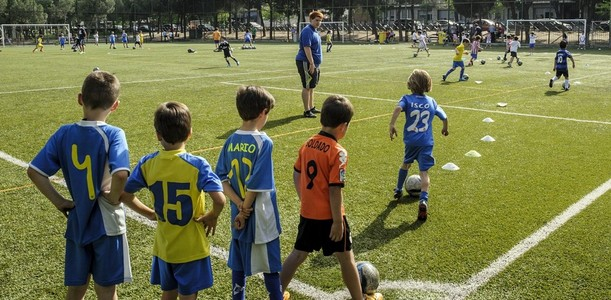 Escuela de fútbol en Palestra Breogán