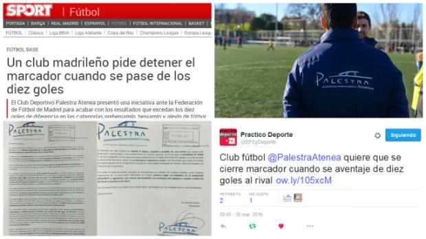 Iniciativa de Palestra Atenea en el fútbol base