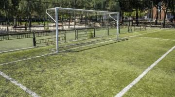 Fútbol 7 en el polideportivo Breogán