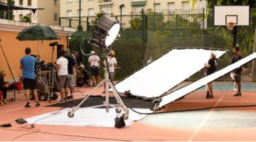rodaje de Almodóvar en el polideportivo Eva Duarte